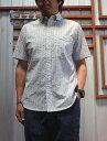 STUDIO ORIBE DELICIOUS(デリシャス) DS0990 Pujpl Short Sleeve Blue Stripe サッカー生地半袖シャツ ブルーストライプ