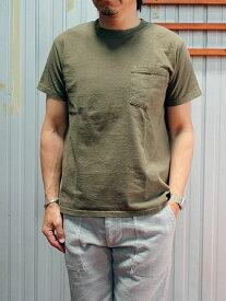 Good Wear GOODWEAR グッドウエア 別注スリムフィット USA製 ワンウオッシュ ヘビーコットン 1ポケットTシャツ ライトグレー カーキ
