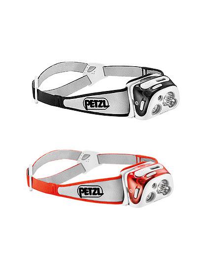 PETZL ペツル トレランに最適ヘッドランプ リアクティック プラス LEDヘッドランプ コーラル ブラック USBで接続 富士山登山 レスキュー隊愛用
