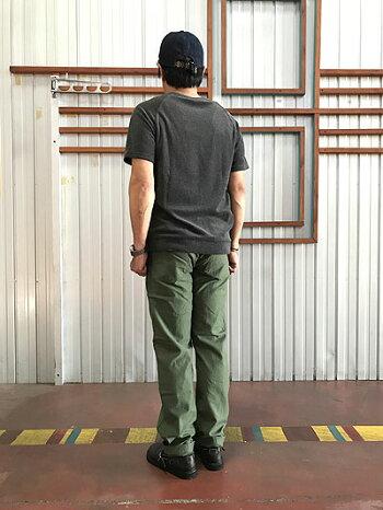 01-5032-16USARMYSLIMFITFATIGUEパンツオリジナルバックサテン生地グリーンMadeinJapan