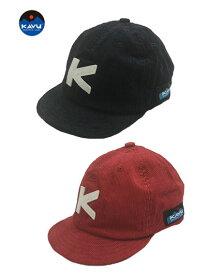 KAVU カブー コーデュロイ素材ベースボールキャップ  日本製 レッド ネイビー ブラック チャコール
