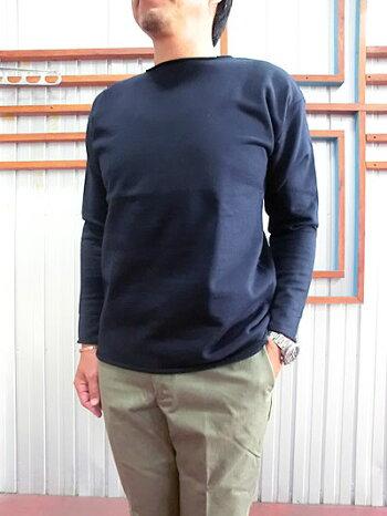 マニュアルアルファベットMA-C042カットオフロングTシャツ杢GREYNAVY