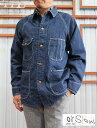 orSlow オアスロウ 03-6140 1950 COVER ALL JK カバーオール ワークをキレイに着る!ラグラン デニムカバーオールジャケット スリムフィットデニムジャケット ワンウオッシュ
