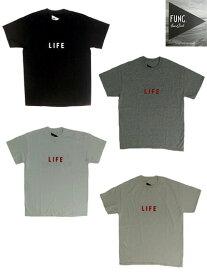 【SALE】FUNG ファング LIFE ライフ オリジナル両面プリントTシャツ ホワイト ブラック ナチュラル グレー  【あす楽対応】