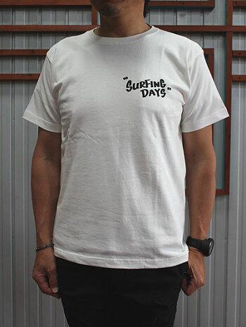 DELICIOUS(デリシャス)DCP34天竺Squareプリント半袖TシャツGRAYNAVYWHITEMadeinJapan