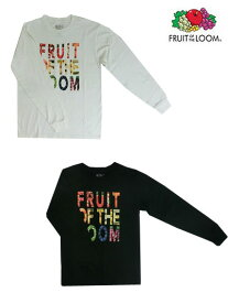FRUIT OF THE LOOM (フルーツオブザルーム) Photo Logo ロングスリーブTシャツ Black White