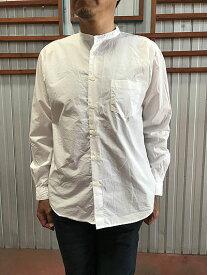 MANUAL ALPHABET マニュアルアルファベット  MA-S-489 ルーズフィット バンドカラーシャツ White ホワイト 日本製