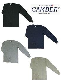 キャンバー CAMBER #305 マックスウェイト 長袖 クルー ネックロングTシャツ USA製 アメリカ製 ブラック ナチュラル グレー ネイビー