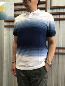 LACOSTE(ラコステ)【SALE】フランスラコステ FRANCE LACOSTE レギュラーフィット オーガニックコットンピケカラーブロックポロシャツ Yellow Blue