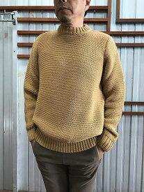 Kerry Woollen Mills(ケリー ウーレン ミルズ)【SALE】 Pearl stitch crew neck LITE knit クルーネックニット Camel キャメル イギリス製