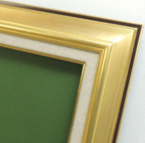 7716 ゴールド P12号 606×455mm 油彩額 油絵額 油彩額縁 油絵額縁 額縁 アクリル(軽くて割れにくい)