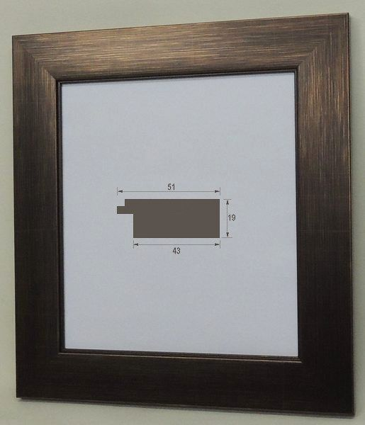 風雅 (8×9寸)ブラウン 色紙額 色紙額縁 大仙 (242×273mm) 普通色紙サイズ 軽い スタンド付 激安特価 オシャレ モダン フラットフレーム アンティーク調
