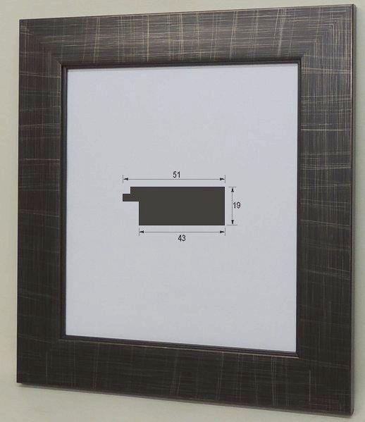 風雅 (8×9寸)ブラック 色紙額 色紙額縁 大仙 (242×273mm) 普通色紙サイズ 軽い スタンド付 激安特価 オシャレ モダン フラットフレーム アンティーク調