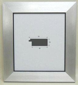 風雅 (8×9寸)シルバー 色紙額 色紙額縁 大仙 (242×273mm) 普通色紙サイズ 軽い スタンド付 激安特価 オシャレ モダン