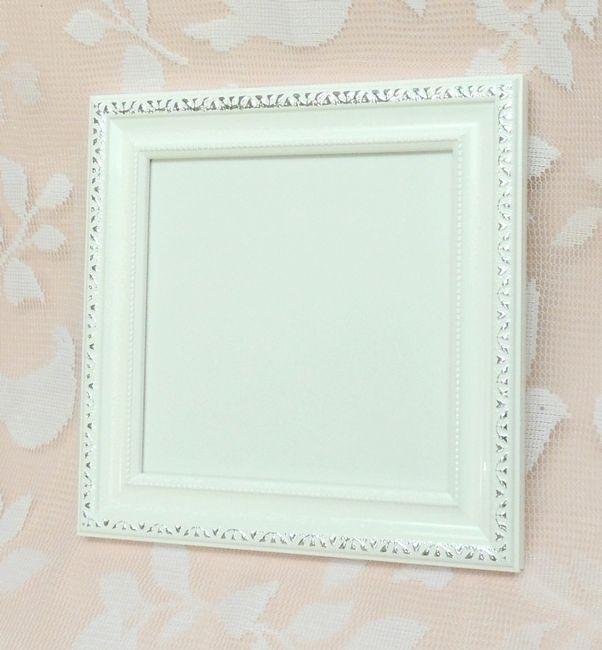 エンジェル ホワイト 150角 とっても可愛い木製フレーム 日本製額縁 限定品 アウトレット品 パステルアートに人気 表面保護/ガラス  キュートな15センチ角