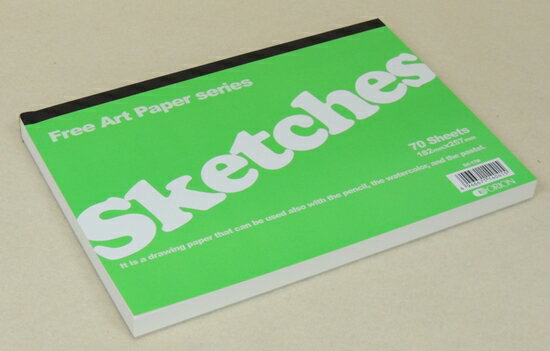 オリオン Sketches B5サイズ 126g 70Sheets 182×257mm パステルアートに人気の高いスケッチブック