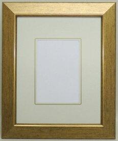 108 ゴールド インチ 255×203mm はがき額 豪華 デッサン額縁 水彩額 水彩額縁 フレーム ガラス アウトレット品 激安価格