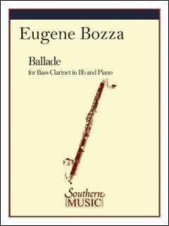 楽譜 ボザ/バスクラリネットのためのバラード 03773914/SS287/バスクラリネットとピアノ/輸入楽譜(T)