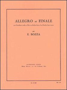 楽譜 ボザ/アレグロとフィナーレ(AL21260/テューバ(又はバス・トロンボーン)とピアノ(ソロ譜はin Bb管用とin C管用)/輸入楽譜(T))