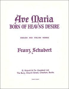 楽譜 シューベルト/アヴェ・マリア Op.52-6(LD00030100/歌とピアノ(英語/イタリア語)(変ロ長調)/輸入楽譜(T))