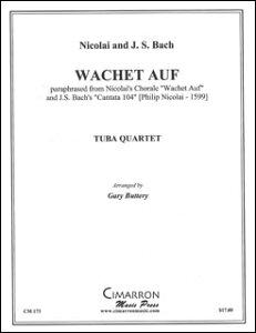 楽譜 ニコライ、J.S. バッハ/目覚めよ、と呼ぶ声あり【バリ・チューバ四重奏】(【1761310】/CM0173/ユーフォ・チューバ4重奏/輸入楽譜(T))