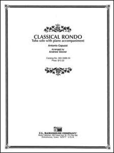 楽譜 カプッツィ/クラシカル・ロンド 【Tuba&Piano】(【894611】/083-3988-39/チューバ&ピアノ/輸入楽譜(T))