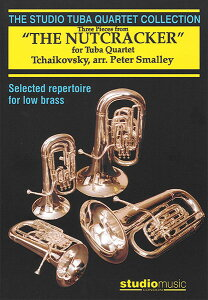 楽譜 チャイコフスキー/「くるみ割り人形」より 3つの小品 (マーチ、こんぺい糖の踊り、トレパック)(ユーフォ・チューバ4重奏/輸入楽譜(T))