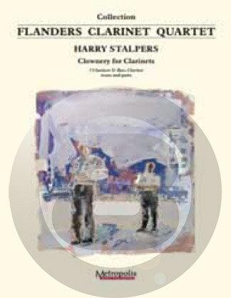 [楽譜] クラウナリー・フォー・クラリネッツ【クラリネット四重奏】【DM便送料無料】(Stalpers - Clownery for Clarinets)《輸入楽譜》