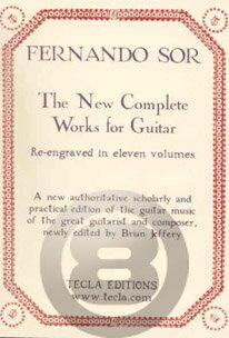 [楽譜] フェルナンド・ソル全集 ジェファリ編 ペーパーバウンド《輸入ギター楽譜》【DM便送料無料】(The New Complete Works for Guitar Solo and Guitar Duet)《輸入楽譜》