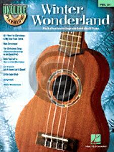 [楽譜] ウクレレ・クリスマス曲集(8曲収録、CD付)《輸入ウクレレ楽譜》【10,000円以上送料無料】(Winter Wonderland)《輸入楽譜》