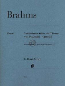 [楽譜] ブラームス/パガニーニの主題による変奏曲 (原典版/ヘンレ社)《輸入ピアノ楽譜》【10,000円以上送料無料】(Paganini Variations op. 35)《輸入楽譜》