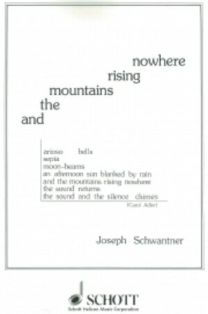 [楽譜] そしてどこにも山の姿はない《輸入吹奏楽譜》【送料無料】(AND THE MOUNTAINS RISING NOWHERE(sc&parts)《輸入楽譜》