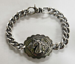 "galcia / ガルシア "" CONCHO BRACELET "" SILVER 925 AGAVE CONCHO HORSESHOE HORES MEXICAN コンチョ アガベ ホースシュー ホース メキシカン シルバー チェーン ブレスレット (20C-BR-CHH001SS)"