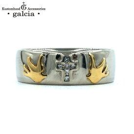 "galcia / ガルシア ""(MEN'S) PLATINUM MARRIAGE RING "" CROSS SWALLOW PT900 K18 DIAMOND プラチナ ダイヤモンド マリッジリング ペアリング クロス スワロウ (GMR01PT MEN'S)"