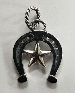 "galcia / ガルシア PENDANT HEAD ""STAR & HORSESHOE"" SILVER 925 シルバー 蹄鉄 ホースシュー スター 星 ペンダント (20NT-OSSH002SS)"
