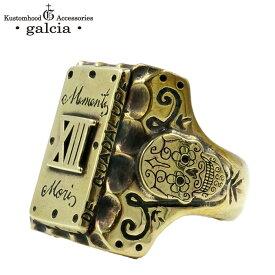 "galcia / ガルシア "" MEXICAN RING Rectangle "" RING BRASS SKULL 13 ブラス スカル リング (17R-MMS001BB)"