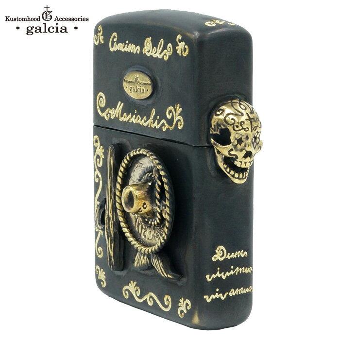 galcia / ガルシア ZIPPO ARMOR TYPE BRASS ANTIQUE BLACK (ZIPPO-16B005) 真鍮 ハンドメイド ブラス アーマー ジッポ ジッポライター オイルライター ジッポー