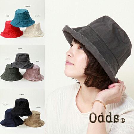 odds【オッズ】 baketsu sun hat バケツサンハット レディース 綿 コットン 帽子