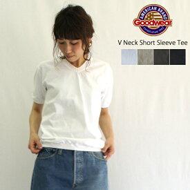【メール便送料無料/ゆうパック660円】Goodwear【グッドウェア】Vネック半袖ティーシャツ(V NECK S/S TEE WITH CUFF AND HEM RIB)NGW1701 レディース メンズ ユニセックス Tシャツ カットソー ポケットなし