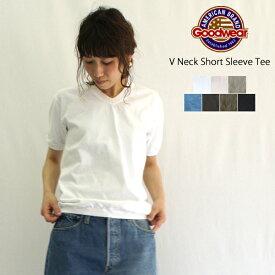 Goodwear【グッドウェア】Vネック半袖ティーシャツ(V NECK S/S TEE WITH CUFF AND HEM RIB)NGW1701 レディース メンズ ユニセックス Tシャツ カットソー ポケットなし