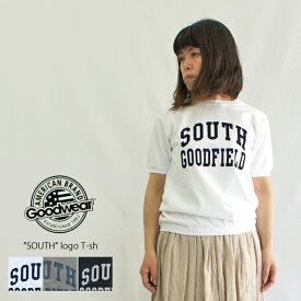 """Goodwear グッドウェア """"SOUTH"""" 半袖ロゴTシャツ(7.2oz crew neck cuff&hem rib)NGT9801-2384 レディース メンズ ユニセックス Tシャツ カットソー アメカジ"""