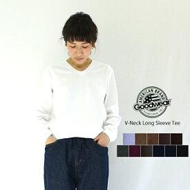 Goodwear グッドウェア Vネックロングスリーブティー NGW1851 (V-NECK L/SL WITH CUFF&HEM RIB) レディース メンズ ユニセックス カットソー ティーシャツ Tシャツ ロンT ヘビーウエイト