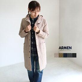 ARMEN アーメン キルティングコート コットンキルティングフード付きコート cotton quilt hooded coat NAM0553 レディース 綿キルト