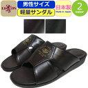 コンフォートサンダル メンズ 軽量 LION サンダル ヘップサンダル ライオン 備長炭 前空き サンダル 日本製 靴 つっか…