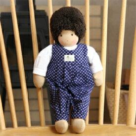 ジルケ人形・男の子 こげ茶髪 青服