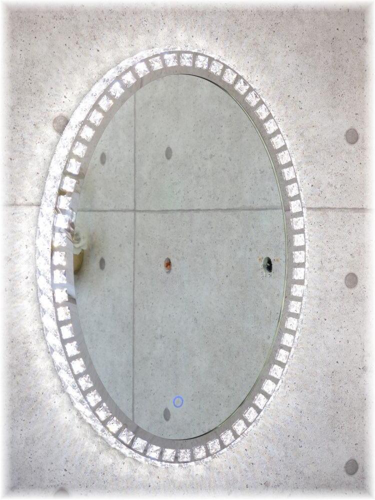 鏡 かがみ カガミ ミラー 姿見鏡 壁掛け鏡 大型鏡 卓上鏡 ドレッサー スタンドミラー 激安 おしゃれ【送料無料!】 新品・LED内蔵 オシャレなデザイン 豪華クリスタル壁掛け鏡鏡 かがみ カガミ ミラー 壁掛け 姿見 大型 卓上 おしゃれ