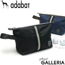 無料ラッピング アダバット ポーチ adabat GOLF ゴルフ セカンドバッグ クラッチバッグ ファスナー 小物入れ ゴルフ用品 ゴルフグッズ メンズ レディース ABZ408A