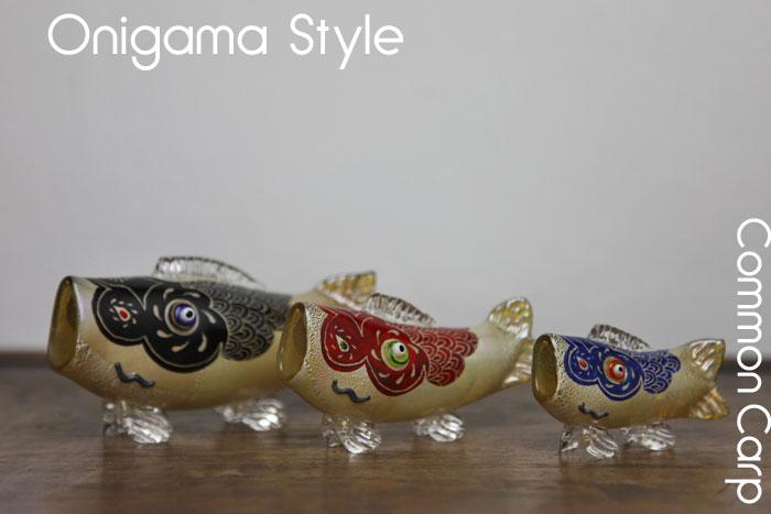 【送料無料】「硝子 鯉」親子セット端午の節句・鯉のぼり・置物・5月5日・販売・通販・お祝い・ギフトプレゼントに