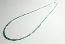 グリーンカルサイトネックレス(インド加工)