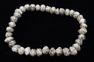 特大!超レア品!79.35ctダイヤモンド原石ブレスレット ザイール産 穴サイズ1.0mm